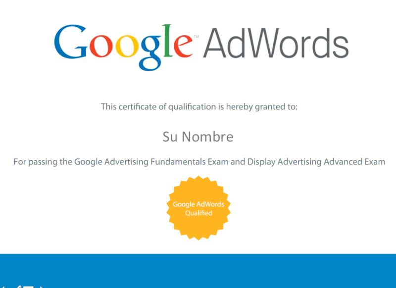Certificación Internacional Google AWords